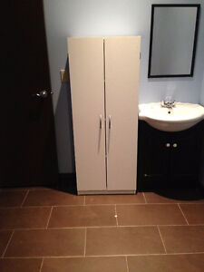 WHITE STORAGE CABINET - PRICED TO GO!