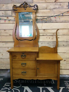 Antique Side by Side Dresser with Commode - Delivery
