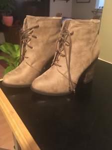 New Neutral Suede Boots