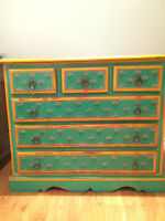 Gorgeous charming antique hand-painted dresser