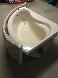 Corner bath and shower tray