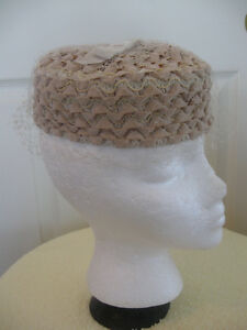 CHARMING OLD VINTAGE WOVEN PILL-BOX-STYLE LADY'S BONNET