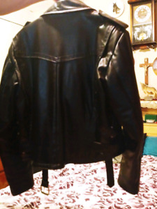 Black motorcycle leather jackets