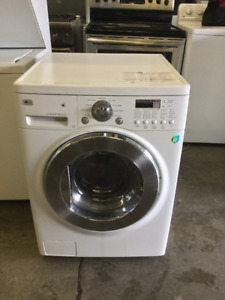"LG White Front Load Glass Window 24"" Washer"