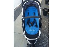 iCandy Peach Jogger Blue Travel System