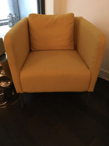 NEW LOWER PRICE - Yellow Chair - Must go Saturday!