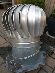 "12"" GALVANIZED ROOF TURBINE - good used condition"