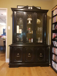 Wooden Hutch and Display Cabinet