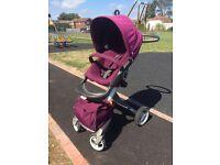 Stokke Xplory Purple Pushchair/Pram/Buggy complete package
