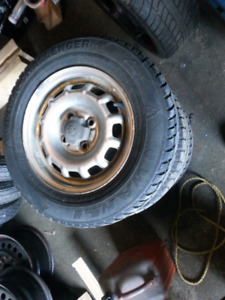 Winter tires and rims to fit 95 style toyota tercel