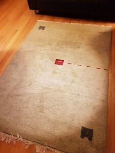 Area rug 5'x7', handmade, 100% pure new wool,