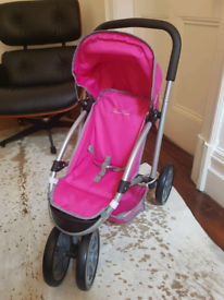 Silver Cross Pink Dolls Buggy Pushchair Pram Excellent Condition