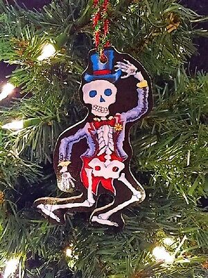 Day Of The Dead Man (Day of the Dead Skeleton Man Musician Handmade Wooden)