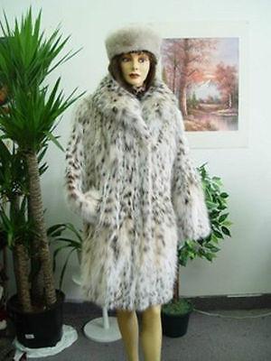 BRAND NEW NATURAL MONTANA LYNX BELLY (ONLY) FUR JACKET COAT WOMEN WOMAN SZ ALL