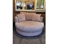 Couples round sofa