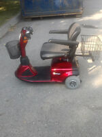 Pride Mobility Sundancer Scooter, good condition.1 year full war