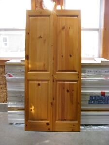 Solid Knotty Pine BiFold Doors (Just Like New)