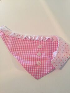 Hand made:  Baby girl Bandana bib - last one