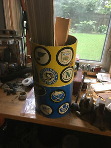 1970's Metal NHL Trash Can - Vintage