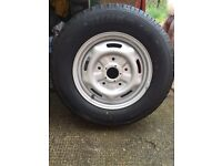 Ford transit mk3 new wheel and tyre