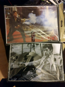 7 framed scarface pictures all mint and still in plastic