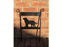 Wrought Iron Dog Ornament / Boot Scraper
