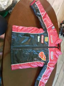 Disney cars leather racing jacket