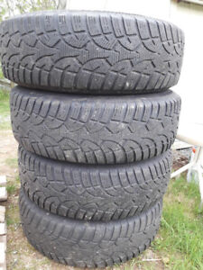 (4) Steel Rims and Tires 225/70/16