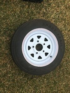 TRAILER RIM AND TIRE BRAND NEW