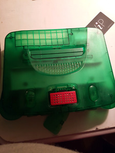 Atomic greenn64 with expansion pack 2 controllers 16 games