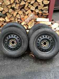 4-225/65/R17 Winter Tires and Rims