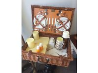 Vintage Brexton, Four Person Traditional Picnic Set in Mint Condition