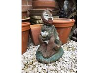 Good sized vintage, nicely weathered garden gnome...heavy