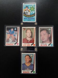 STAR LOT OF 1969 OPC HOCKEY CARDS