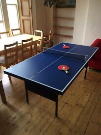 Table tennis table ping pong table 6ft x 3ft blue folding
