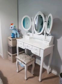 Brand new white vintage style dressing table still flatpacked