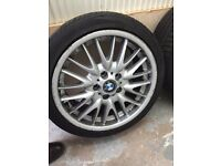 """MSPORTS ALLOYS WHEELS """"18 with New tyres"""