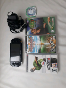 PSP 1000 With 3 Games and 1 Movie .