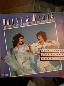 Donny & Marie Osmond Vinyl Records (VG)