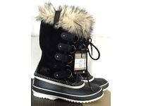 BNIB Sorel Joan of Arctic waterproof boots - black (size uk6.5)