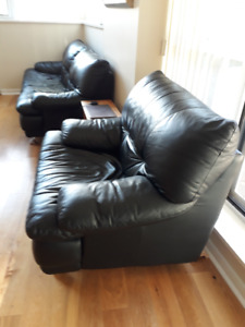 Leather couches (1+3)
