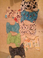 35 kawaii baby cloth diapers with 40 inserts