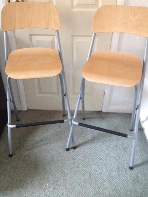 ikea franklin bar stools in llandaff cardiff gumtree. Black Bedroom Furniture Sets. Home Design Ideas