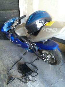 F2 Turbo Electric Pocket Bike with Accessories! Almost New!