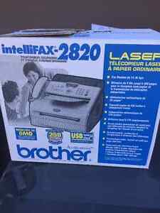 BROTHER INTELLIFAX-2820 ALL IN ONE B/W PRINTER-FAX-COPIER (USED) West Island Greater Montréal image 2
