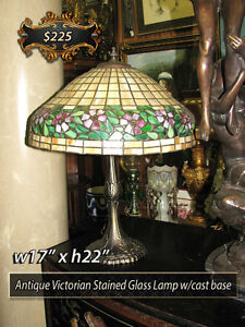 Antique Chandeliers | Stained Glass Table & Floor Lamps +++
