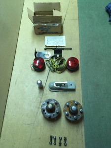 TRAILER HUBS ,WIRING KIT & RECEIVER AND BALL