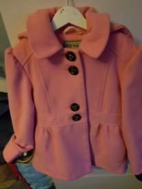 Next 4-5 pink coat
