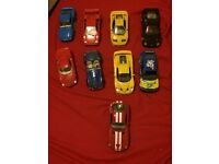 9 model vintage cars