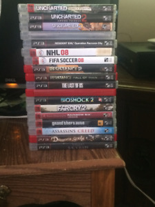 $50 for 18 Used PS3 Games (Sold as a bundle)